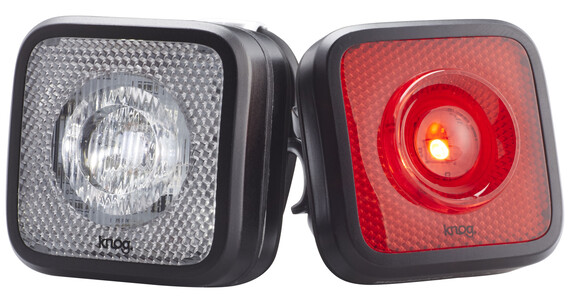Knog Blinder MOB - Set luces a pilas - StVZO Twinpack negro